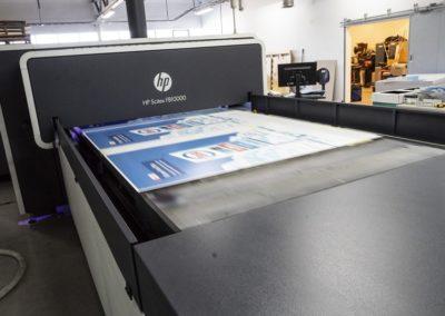 Flatbed printing høy hastighet